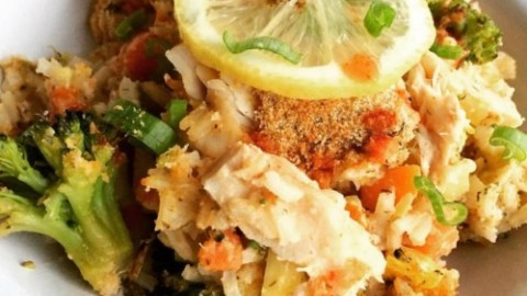Creamy Mahi Mahi & Rice Skillet