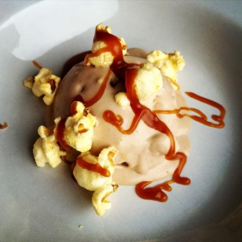 Hot Cocoa Butter Popcorn and Butterscotch Ice-cream