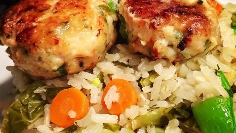 Parmesan Shrimp & Cod Cakes