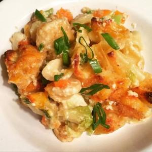 Fried Chicken Mac & Cheese Skillet Casserole
